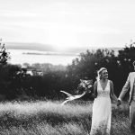 Bride and Groom in Italy sunset
