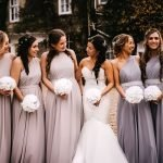 Mermaid Style Bridal Gown and A-line Bridesmaid Dresses