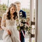 Matching Long lace sleeves added to a wedding dress