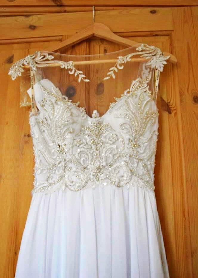 Wedding Dress with Embroidered Top by Emma Guard Design Worthing